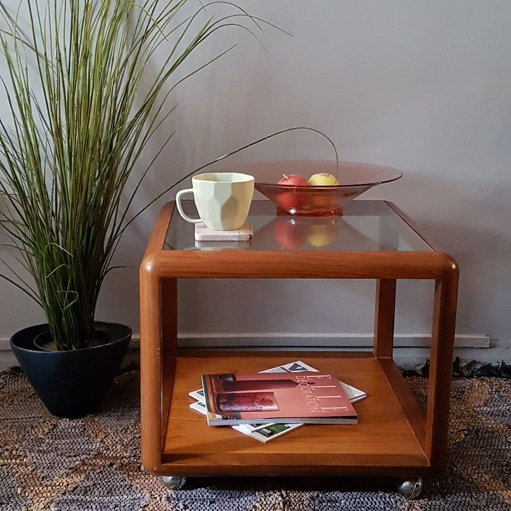 G Plan Teak Glass Coffee Table