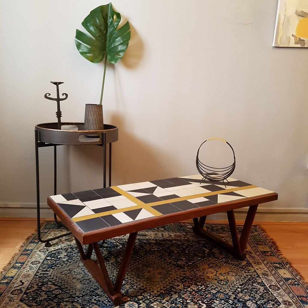 - Geometric Tiled Coffee Table